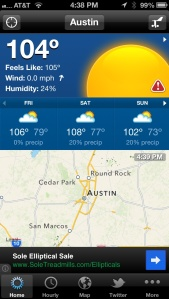 austin cycling, temperature, hot, 100