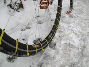 diy snow bike tires