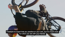 Freestyle MTB group ride with Andreu Lacondeguy
