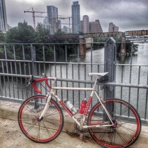 austin skyline, austin bikes